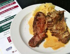 Bison steak, Prague food festival Prague Food, Food Festival, Bison, Steak, Restaurant, Dishes, Plate, Diner Restaurant, Steaks