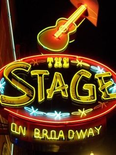 The Stage On Broadway ~ Nashville Neon Sign