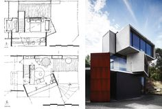 The POD / Whiting Architects - 谷德设计网 Project 3, Architecture Plan, Architects, Floor Plans, Hand Painted, Building Homes, Floor Plan Drawing, House Floor Plans, Architecture