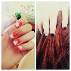 #white#orange/blue#ombré