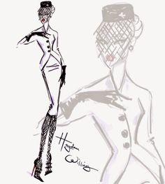 Hayden Williams Fashion Illustrations: 'Pillbox Perfect' by Hayden Williams
