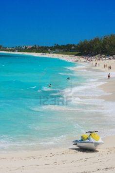 playa de Atlandtis de Paradise Island, Nassau, Bahamas.
