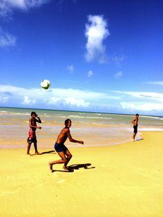 Local Bahian children playing on Trancoso's beaches