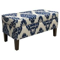 Merveilleux Upholstered Storage Ottoman With An Ikat Motif. Handmade In The USA With  Solid Pine Wood.Product: Storage Ottoman Construction Material: Pine Wood  And ...