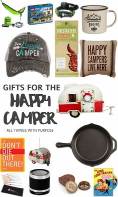 This post contains affiliate links for your convenience. Hello my fellow adventurers, wanderers and glampers! I've put together a swoon-worthy list of fun items to gift any camping lover. I own a few of these items myself and have the others on my wish list (hint hint). Are you following me on instagram? Follow our vintage camper adventures with #gidgetgoescamping and read more about Gidget, our 1956 vintage camper here