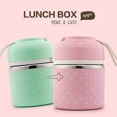 brand Portable Cute Mini Japanese Bento Box Thermal Insulation Leak-Proof Stainless Steel Lunch Box Food Fruit Storage For Kids Picnic