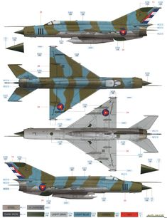 Here is our color profile and paint guide for the MiG-21R Fishbed H Cuban AF