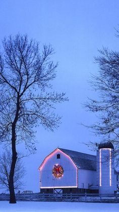 Someday, I'm going to have a ranch. And on that ranch, our barns will be decorated at Christmastime.