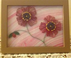 Quilled poppies