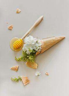 Helado de miel