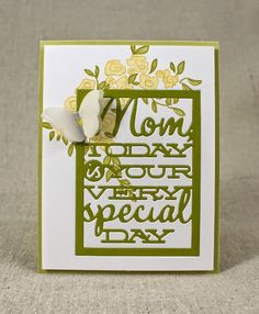 Mother's Day Butterfly Card by Lizzie Jones for Papertrey Ink (February 2015)