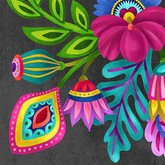 Wall art ideas and inspiration – bestlooks Atelier D Art, Fabric Painting, Gouache Painting, Mexican Folk Art, Diy Art, Flower Art, Art Drawings, Art Projects, Canvas Art