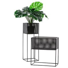 Oscar Plant Stand Perforated Black