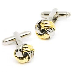 Fashion Silver And Gole Chinese Knot Cufflinks