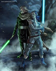 Star Wars: The Last Jedi, Luke and Rey fan art Star Wars Rpg, Star Wars Fan Art, Star Wars Jedi, Jedi Sith, Jedi Knight, Last Jedi, Star Wars Episodes, Doctor Who, Sherlock
