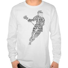 Lacrosse Player Typography Shirts