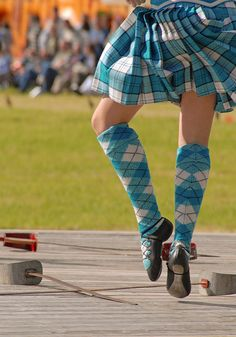 Kilt from the waist down from the back #lennox #turquoise #tartan