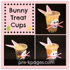 Bunny Treat Cups for preschool and kindergarten classroom parties