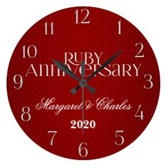 Ruby Wedding Annivsersary Custom Wallclock This site is will advise you where to buyDeals Ruby Wedding Annivsersary Custom Wallclock today easy to Shops & Purchase Online - transferred directly secure and trusted checkout. Wedding Anniversary Celebration, 40th Wedding Anniversary, Ruby Wedding, Large Clock, Display, Clocks, Artwork, Prints, Shops