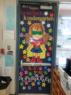 Every teacher has a superpower. ..we asked the kids what our teacher's superpower was and wrote them on the stars!