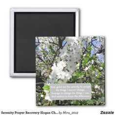 Serenity Prayer Recovery Slogan Cherry Tree Spring Magnet - spring gifts beautiful diy spring time new year Serenity Quotes, Serenity Prayer, Courage To Change, Get Well Gifts, Cherry Tree, Gifts For Coworkers, Nature Images, Paper Cover, Spring Time