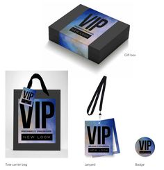 VIP wireless packaging project graphic design New Look