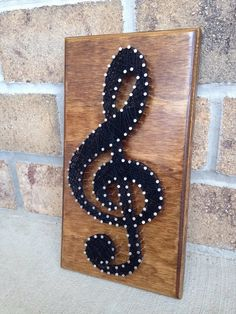 Custom Made to order String Art Music Treble Clef String Wall Art, Nail String Art, Diy Wall Art, String Art Patterns, Doily Patterns, Music Crafts, Bubble Art, Kirigami, Diy Arts And Crafts