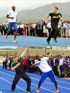 30 Times Prince Harry Made Us Smile | RUNNING MAN | After beating Usain Bolt in a March 2012 race in Jamaica (wait, are you implying Bolt probably let him win …?), Harry's proud smile was contagious.