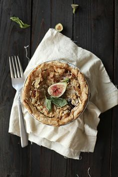 Always With Butter: Fig Goat Cheese Pie with Basil
