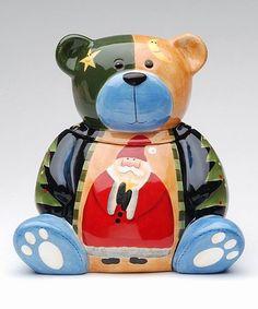 Loving this Teddy Bear & Santa Cookie Jar on #zulily! #zulilyfinds