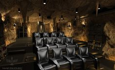 The Ultimate Batcave Home Theater (Batmobile Included)...hubby would luv this!
