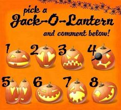 I'm doing a Mary Kay game if anyone wants to play! Taking a pumpkin is up to you. Each one has something different in it. ALL PRIZES are Mary Kay related. Any discount coupons received may not be used on already discounted items. You may only win once per game. Pick a Jack~o~Lantern & CLAIM YOUR PRIZE! I will message you the prize. Be sure to LIKE my Mary Kay business FB Page