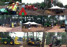 "An early morning shot before the Mid Atlantic Logging and Biomass Expo 2013 in Selma, NC.  This is a great ""in the woods"" event.  James River Equipment is there with our full line of John Deere Forestry Equipment as well as our Morbard wood processors."