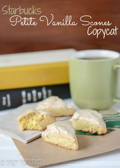 Copycat Starbucks Petite Vanilla Scones by crazyforcrust.com | Even better than the original!