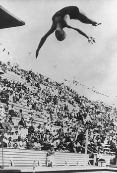 Berlin, 12 August 1936. Diving, Marjorie  Gestring (USA), IOC Olympic Museum Collections