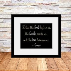 Black Friday SALE Bless the Food Before Us by TheFreckledOwlPrints, $18.00