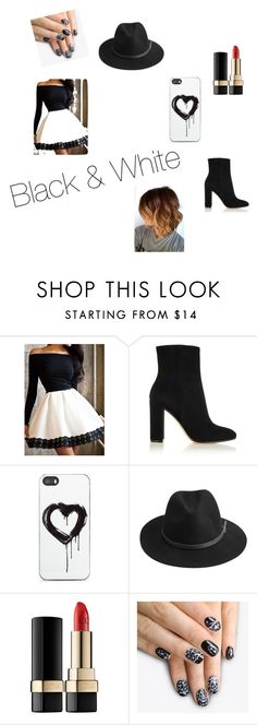 """""""Black and White"""" by lover-860 ❤ liked on Polyvore featuring beauty, Gianvito Rossi, Zero Gravity, BeckSöndergaard, Dolce&Gabbana, alfa.K and yinyang"""