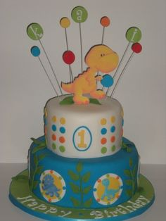1st Birthday Party Cake - Little Dino
