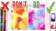 DO'S & DON'TS FOR WATERCOLOR PAINTING - Mistakes to AVOID!