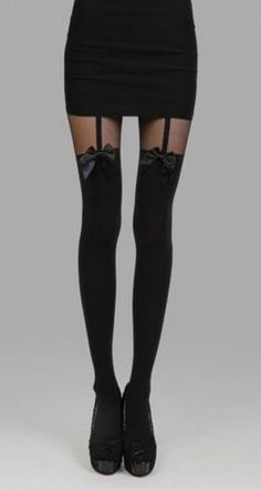 Love! Love! Love the Bows! Super Cute and Sexy Black Tights With Bowknot! Love the Bows!