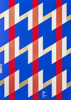 "BIHAKU WATANABE CO.,LTD. ""MINUTE"" #foilstamping #screenprint #typography…"