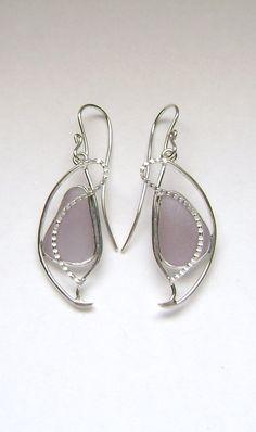 Sea Glass Jewelry  Sterling Purple Sea Glass by SignetureLine, $75.00