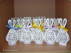 Rabbits from paper for Easter / Вытынанка: Хор мальчиков-зайчиков (подарки к Пасхе)