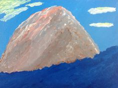 "We hope you enjoy our new acrylic, ""Sunrise Mountain""."