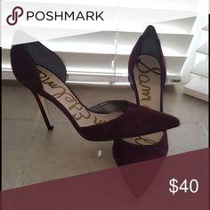 Sam Edelman Heels Like new. Worn once. Purplish/Burgundry In Color (Style Is Delilah) Sam Edelman Shoes Heels