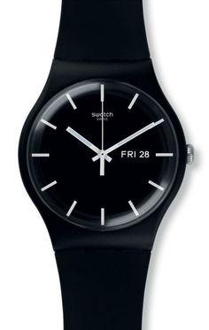 Reloj Swatch unisex Mono Black SUOB720