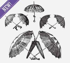 UMBRELLAS - http://freepicvector.com/umbrellas/