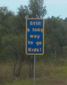 Out of Rockhampton, Central Queensland, Australia, there are these funny signs