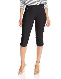 7f2bc6a6a9562 Briggs New York Women s Petite Superstretch Capri with Rounded Pockets      To view further