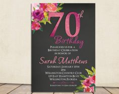 70th birthday party invitations wording birthday party invitation cottage chic chalkboard 80th birthday invitation by 3peasprints filmwisefo